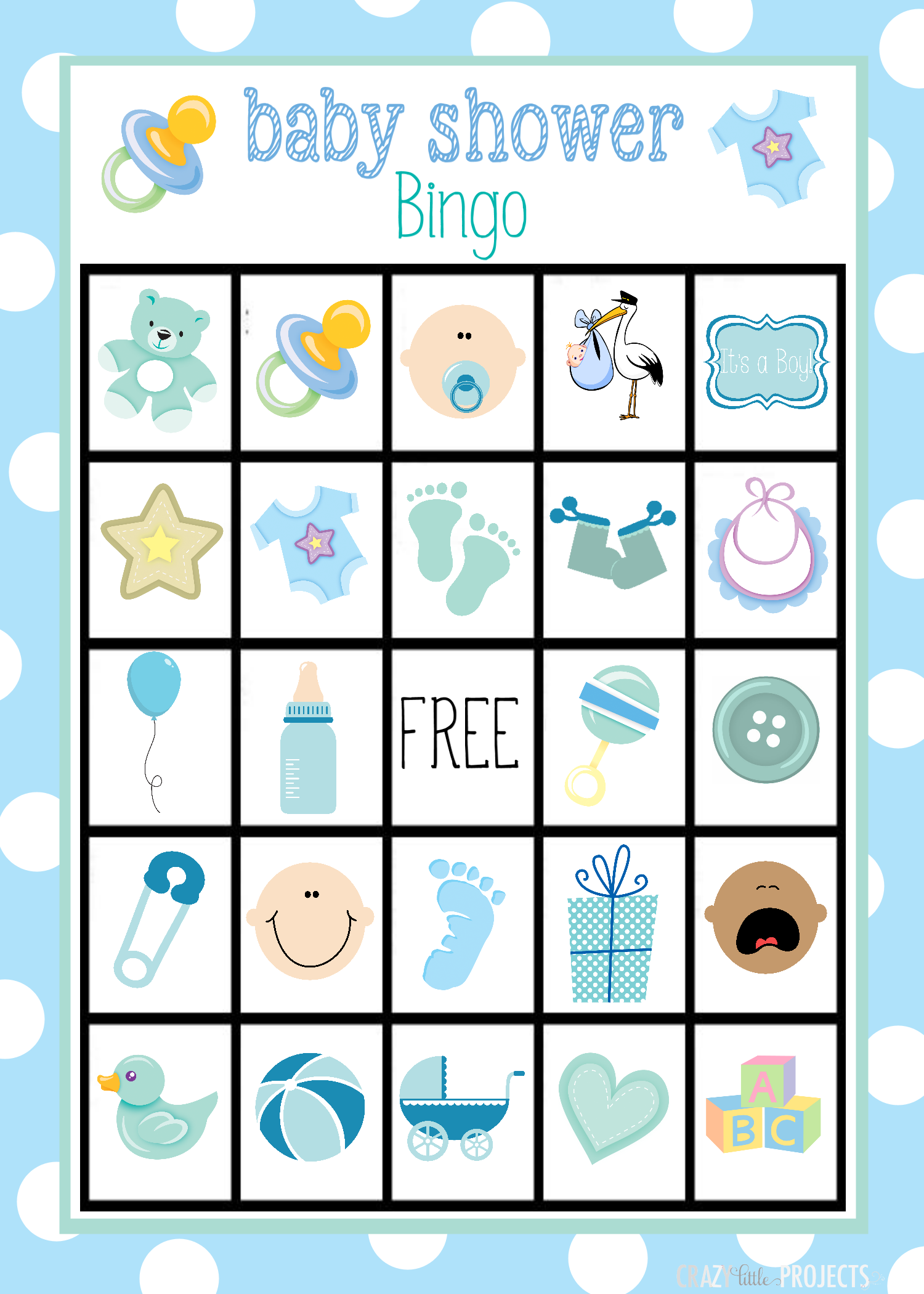 photo about Printable Baby Shower Bingo called Kid Shower Bingo Playing cards