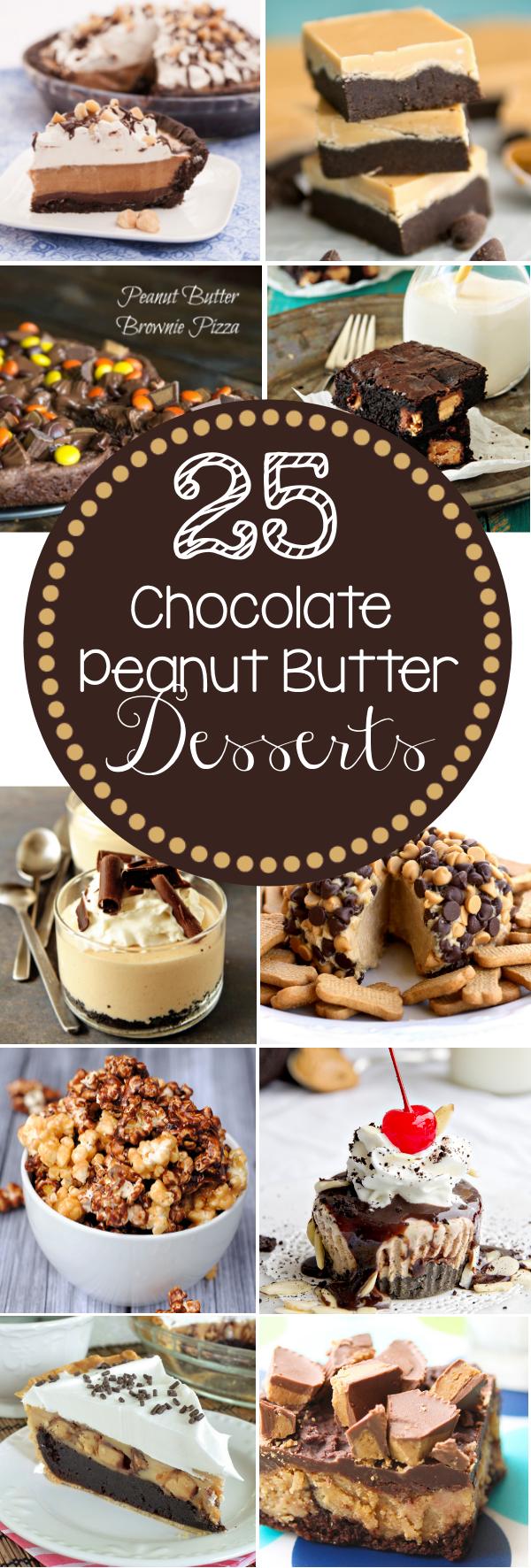 25 Chocolate Peanut Butter Desserts