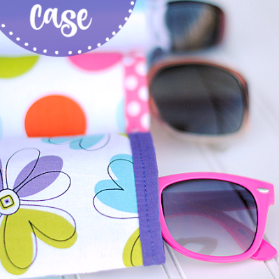 DIY Sunglasses Case-Make this cute sunglasses case in 3 easy steps. #sewingpattern #sew #sewing #summer