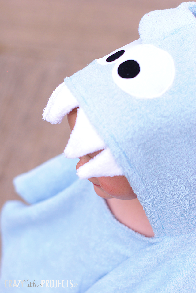 Hooded Shark Pool Cover Up for Toddlers