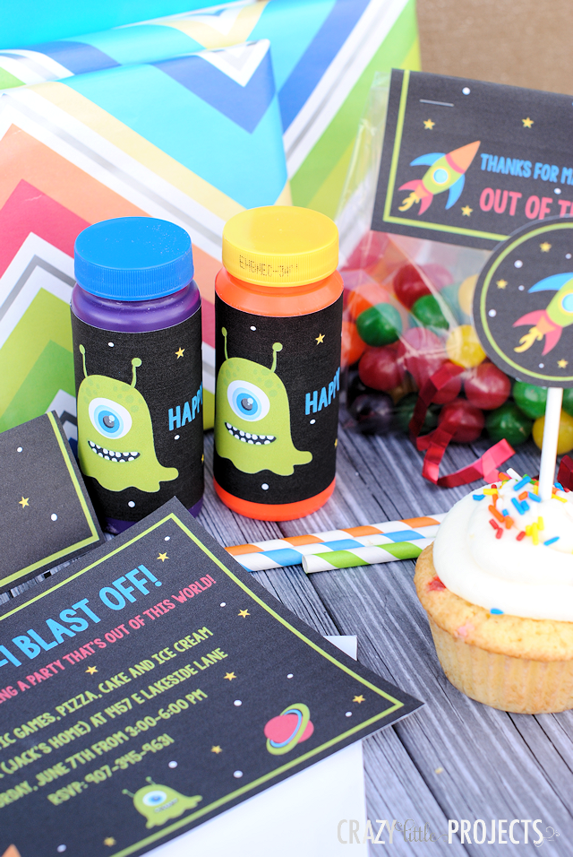 Kids Outer Space Themed Birthday Ideas and Printables