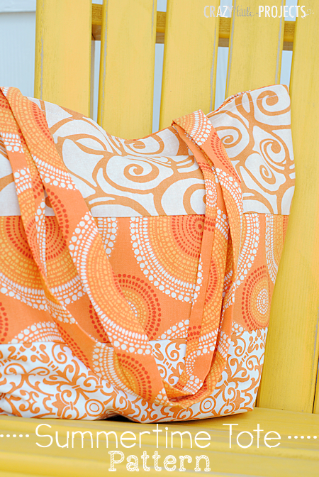 Easy to Make Summer Tote Bag Pattern-This bag is perfect for trips to the pool, the beach or the park this summer (or anytime). Easy to sew, this tote bag pattern is a great sewing project for anyone. #sew #sewing #pattern #summer