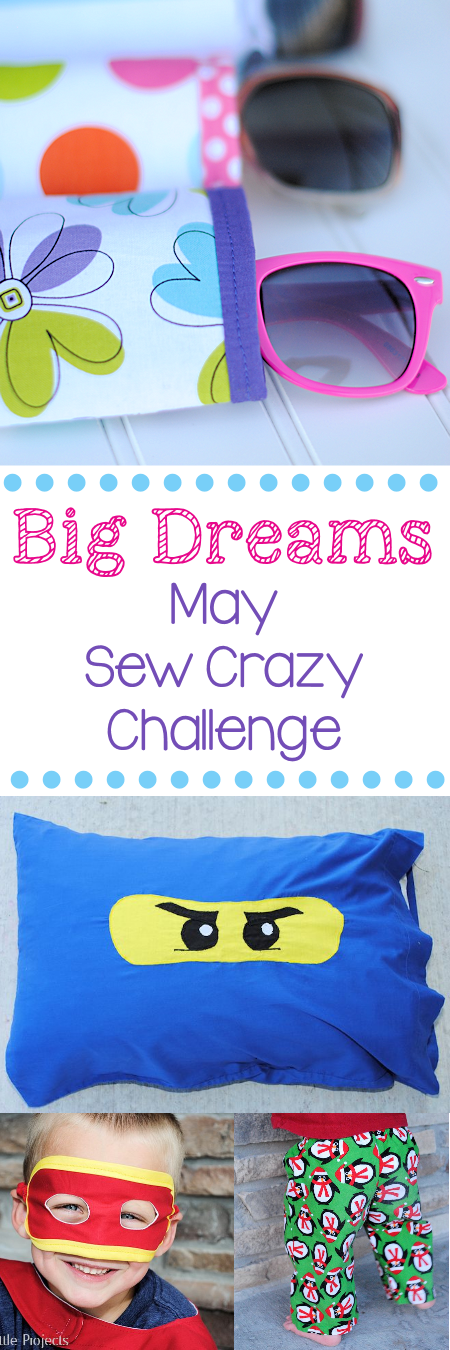 Join the May Sew Crazy Challenge {Learn more at Crazy Little Projects}