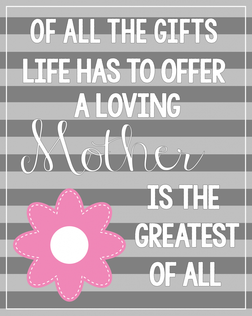 Free Printable Mother's Day Quote