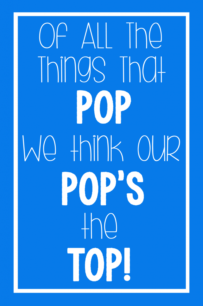 Top Pop Printable Gift Tag