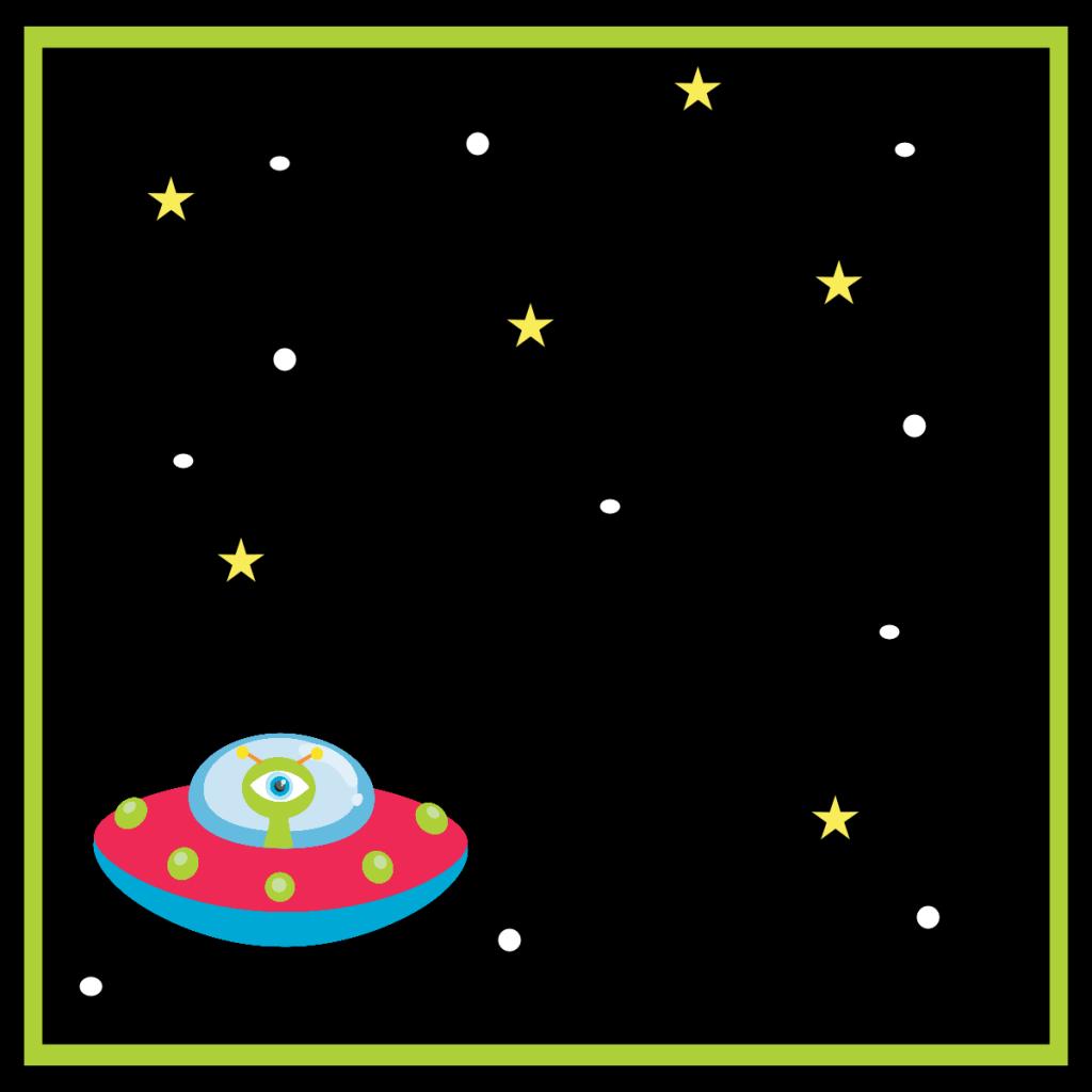 Spacebirthdayfoldablelabel