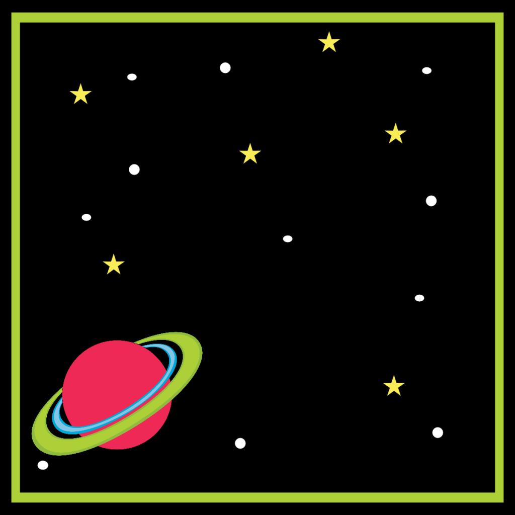 Spacebirthdayfoldablelabelplanet