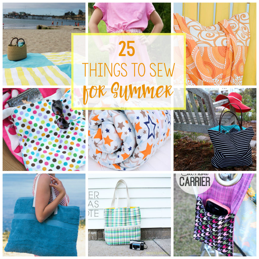 25 Things to Sew for Summer-Great Summer Sewing Projects for being outdoors all summer long! Tons of free patterns to try. #summer #sewing #patterns #sew