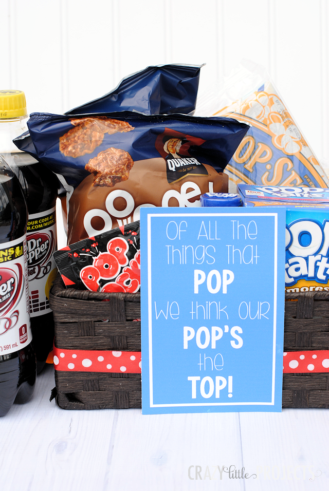 Father's Day Gift Idea and Free Printable: Of all the things that Pop, we think our Pop's the Top