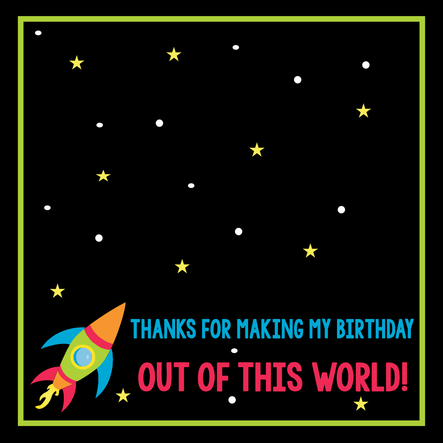 Free Printable Space Birthday Party Favor Tags Treatbagtoppers