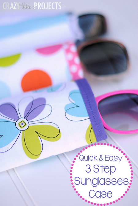 Quick and Easy Sunglasses Case Pattern! Takes about 10 minutes and is done in 3 steps