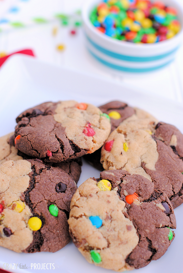 Chocolate Peanut Butter Swirl Cookies