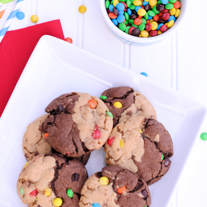 Chocolate Peanut Butter Swirl Cookies & 101 Birthday Ideas