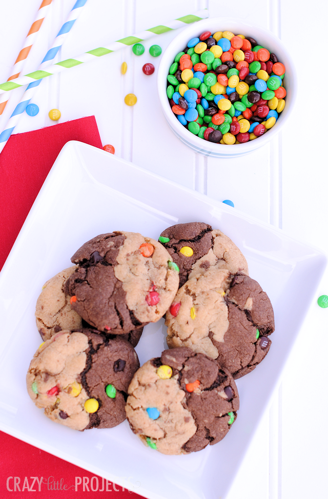 Chocolate Peanut Butter Swirl Party Cookies!