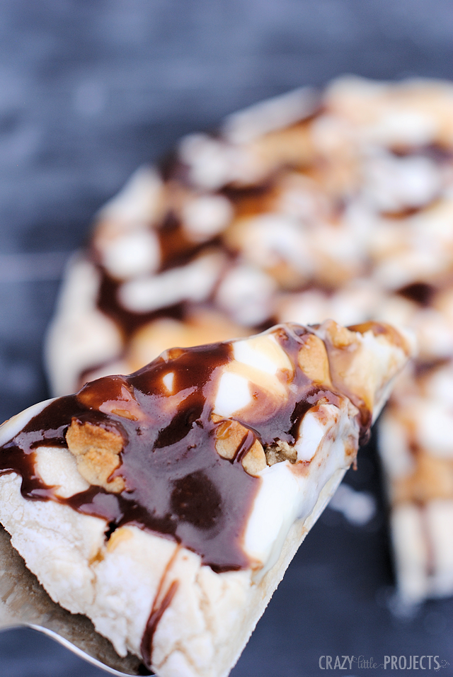 Dessert Pizza: Cookie Dough, Hot Fudge, Caramel and Frosting