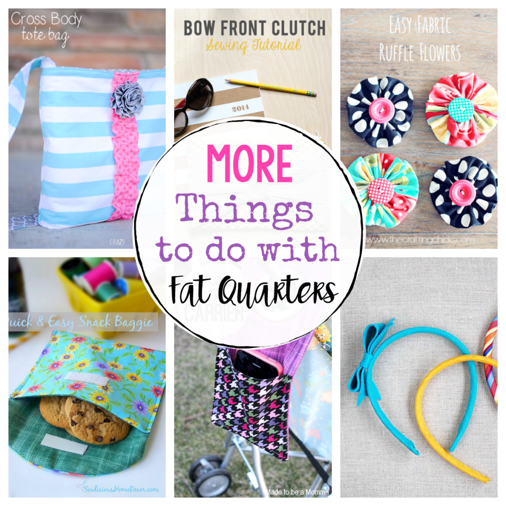 37 Quickest Diy Gifts You Can Make: 25 *More* Things To Do With Fat Quarters