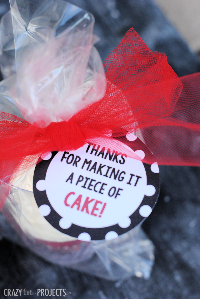 Cute tag to go with a cupcake as a thank you gift