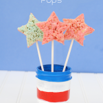Patriotic Jello Krispy Pops