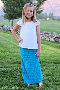 Easy Girl's Ruffle Maxi Skirt Tutorial