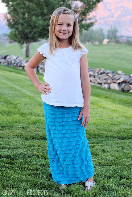 Easy Girl's Ruffle Maxi Skirt Tutorial