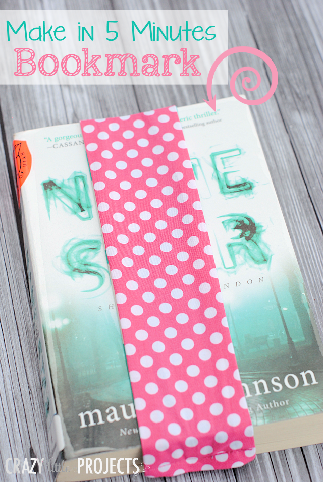 Make Your Own Bookmark-This cute bookmark is one of the easiest sewing projects EVER! You'll love sewing this beginner sewing project and using it to mark your books. #sewing #sewingpattern #patterns