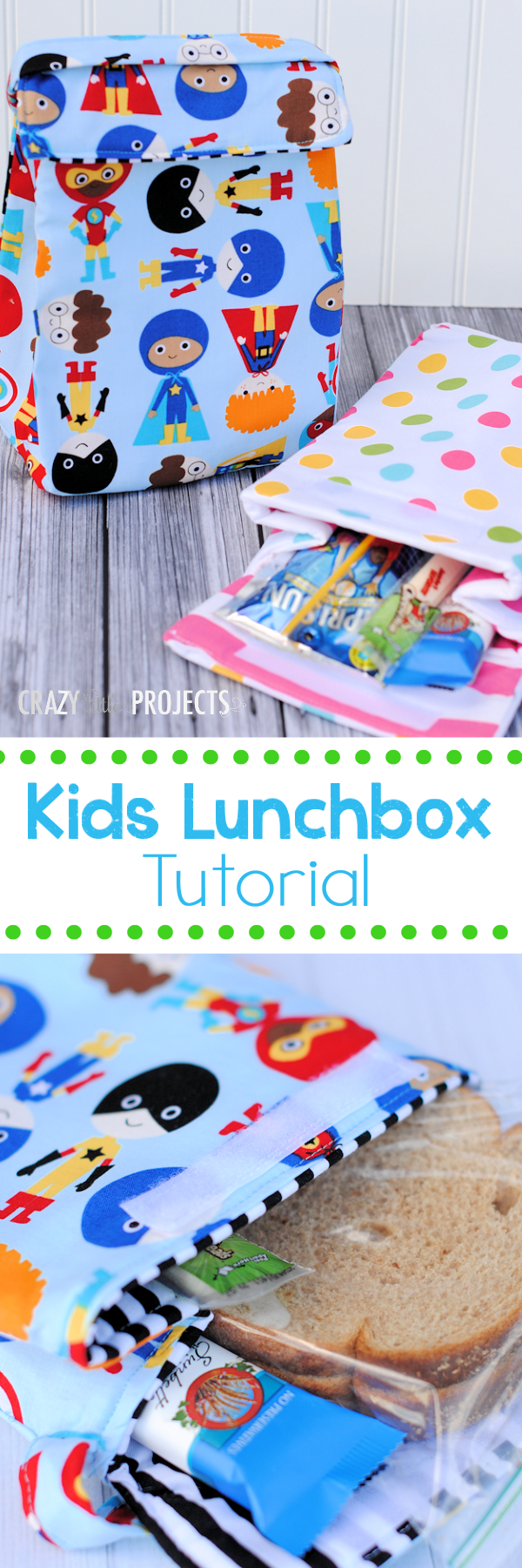 Kids Insulated Lunch Box Tutorial and Pattern