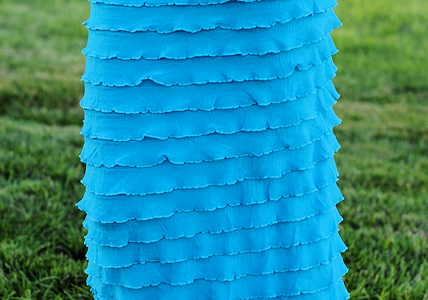 Easy Ruffle Maxi Skirt Tutorial