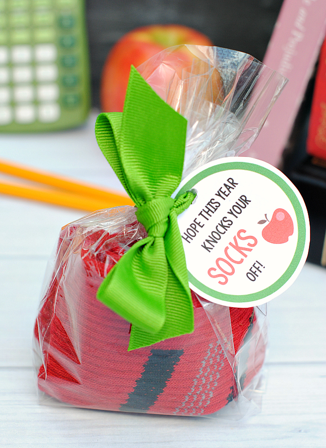 Apple Socks Back to School Gift Idea