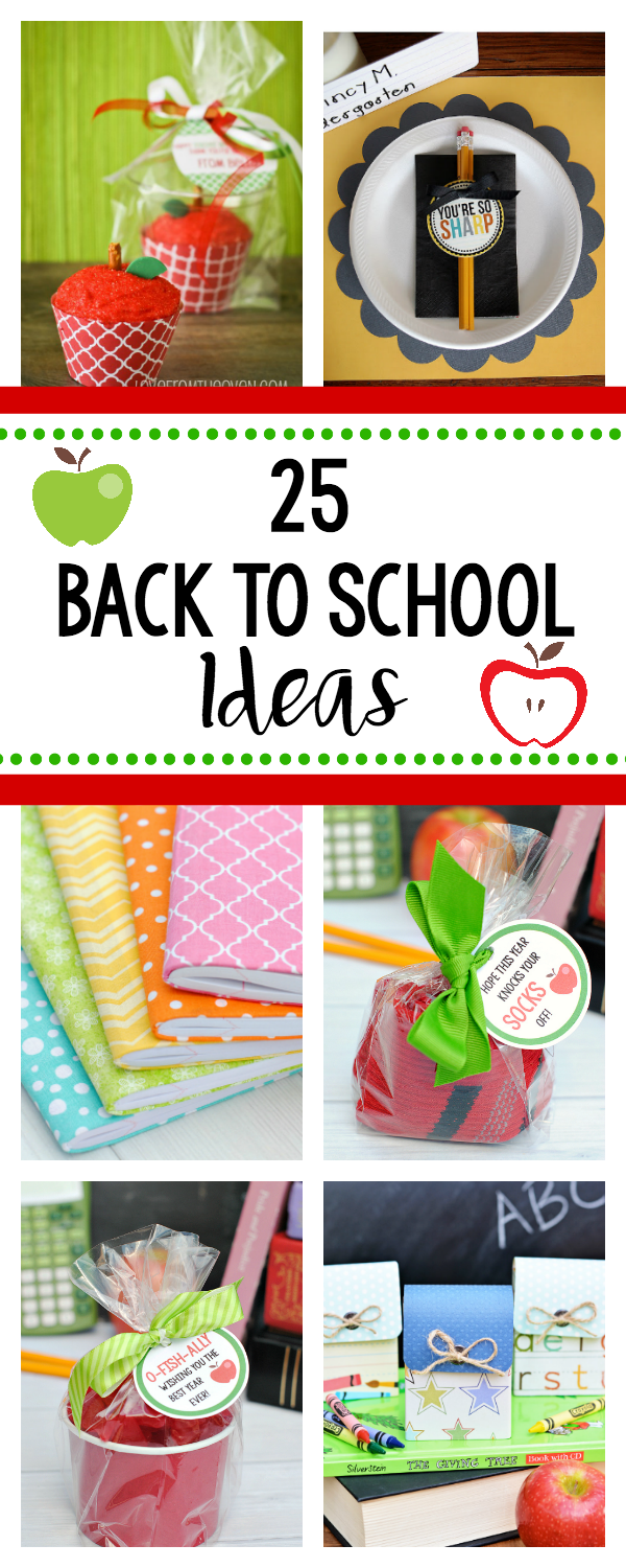 Fun Back to School Ideas-These cute and fun ideas will make going back to school more fun! From treats to gifts, breakfast to planners, your kids will love these fun back to school ideas! #backtoschool #kids