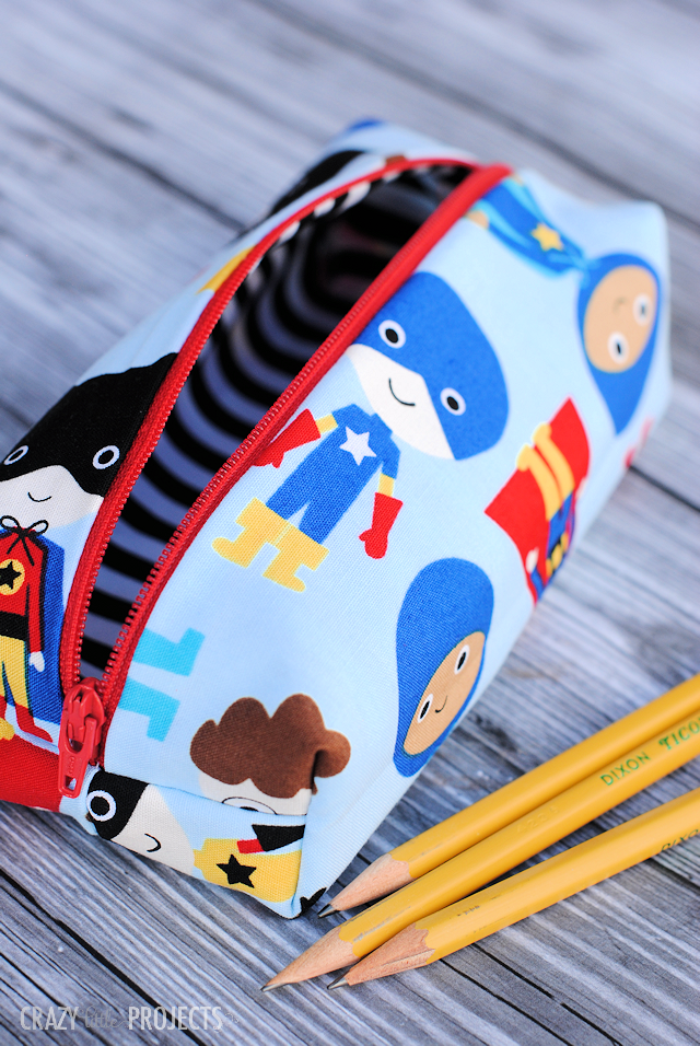 Cute Pencil Case Pattern - Crazy Little Projects