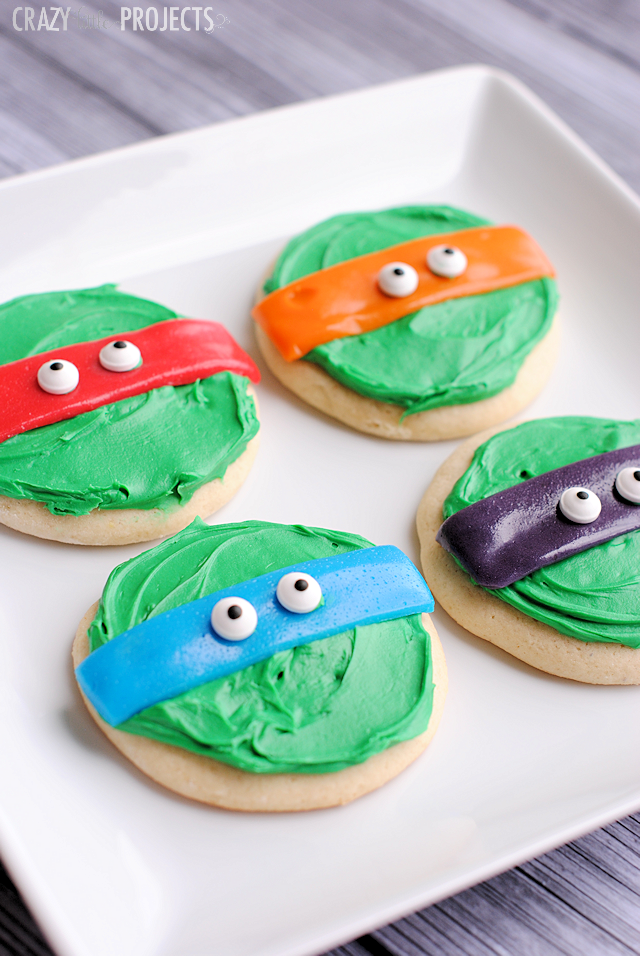 Teenage Mutant Ninja Turtle Cookies for a Party