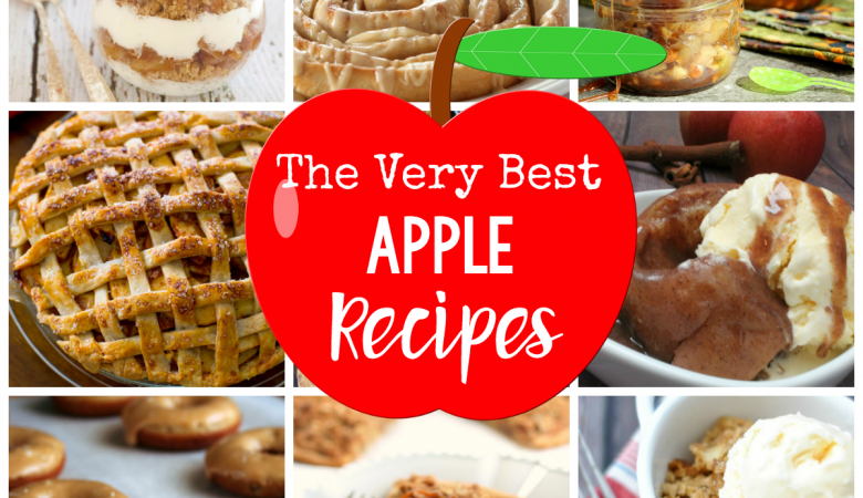 The Very Best Apple Recipes-From apple desserts to breakfast and even dinner, these apple recipes are going to make your house smell AMAZING! And they taste great too. #baking #desserts #apple #recipes