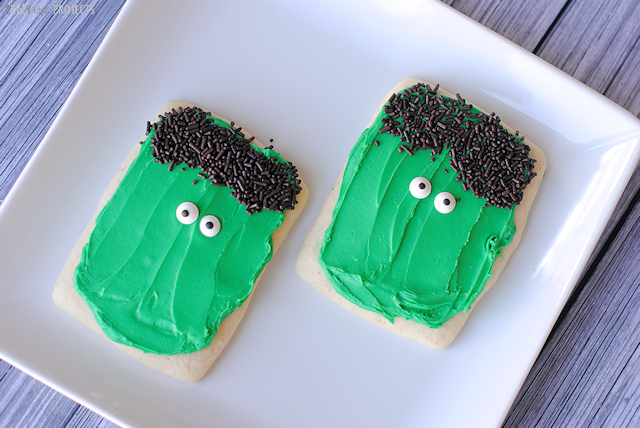 Frankenstein Cookies-So easy to make!