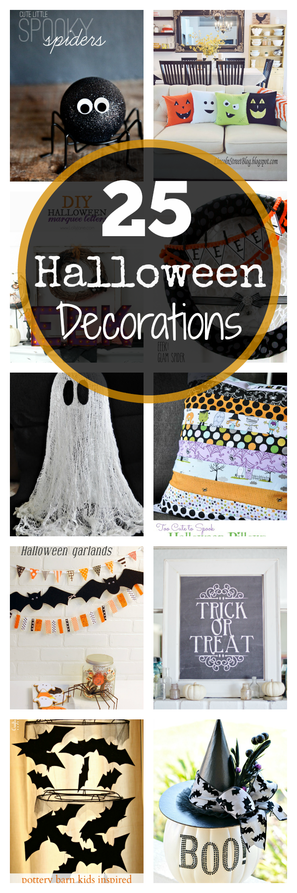 25 Fun DIY Halloween Decorations-Cute things to make to decorate for Halloween that you're going to love! #halloween #decor #halloweendecor
