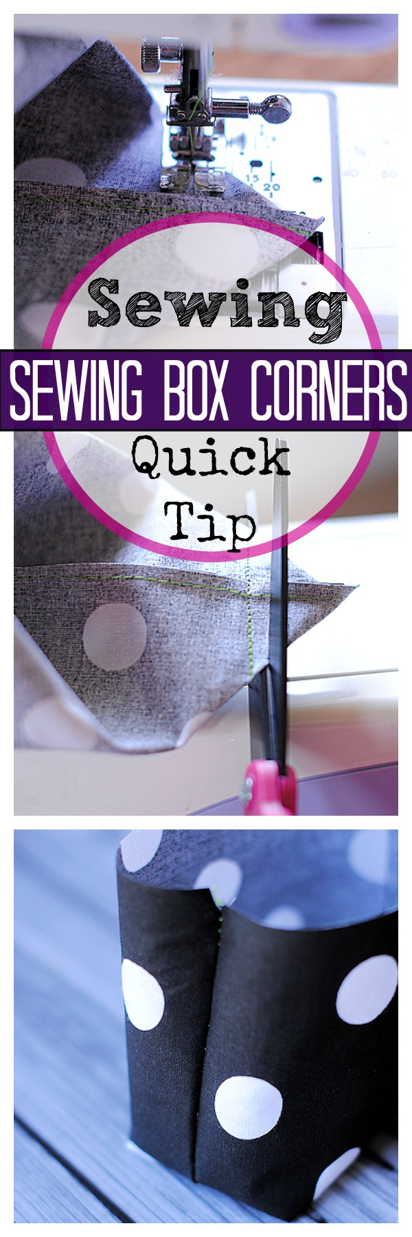 Sewing Quick Tip: How to Sew Box Corners
