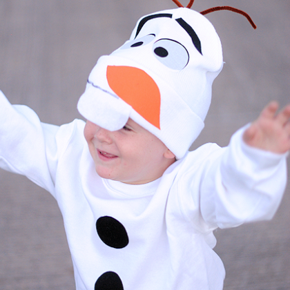 Easy No Sew Olaf Costume & 89 More Costume Ideas