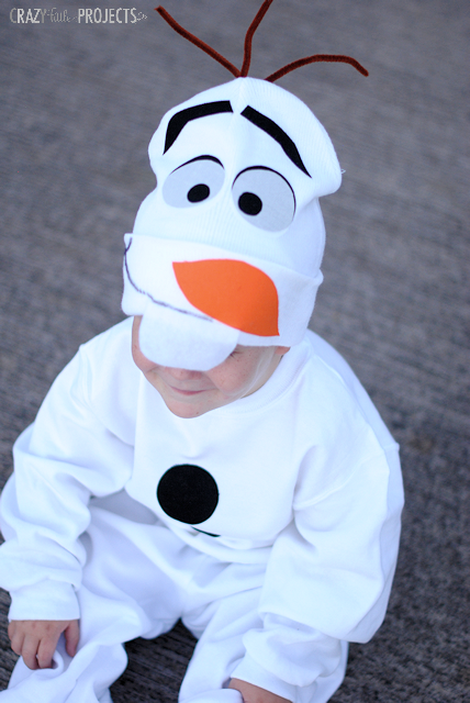Easy No Sew Olaf Costume