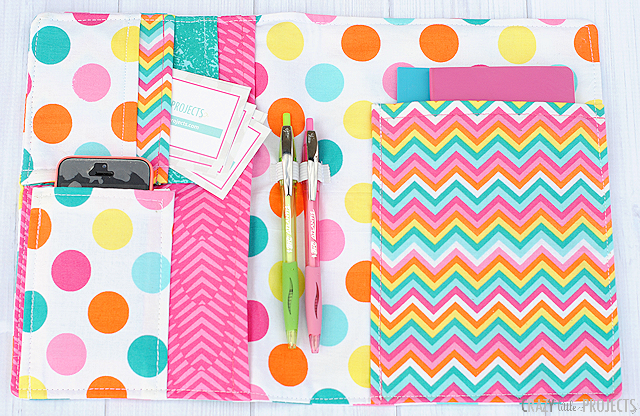 On The Go Organizer Diy Notebook Cover Crazy Little Projects