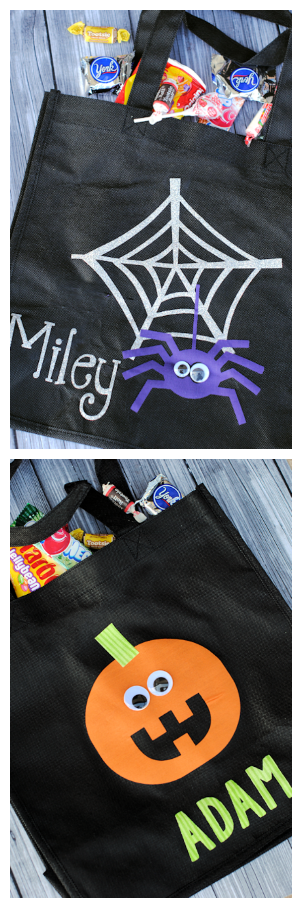 Personalized Trick or Treat Bags that you can make yourself!