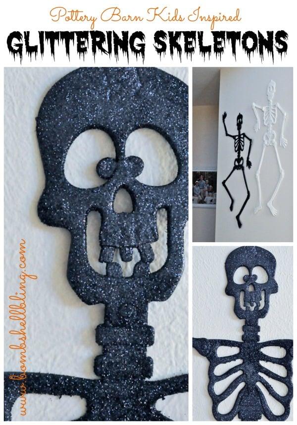 Pottery-Barn-Kids-Inspired-Glittering-Skeletons-from-Bombshell-Bling