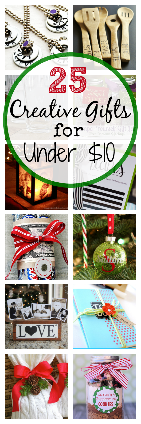 25 Creative and Cheap Christmas Gifts that Cost Less than $10-These cute Christmas gift ideas are fun to give to neighbors or coworkers or friends! #christmas #gifts #christmasgifts #neighborgifts