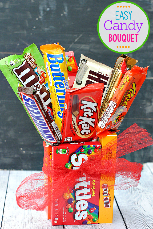 Easy Candy Bar Bouquet for Special Occasions