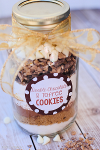 Cookies in a Jar: Double Chocolate Toffee