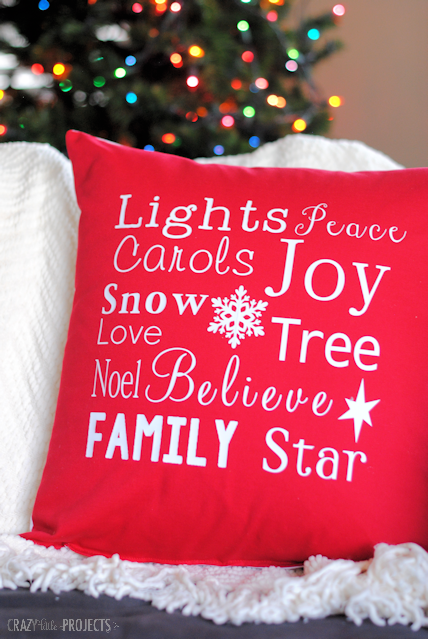DIY Christmas Throw Pillows-So pretty and fun to make!