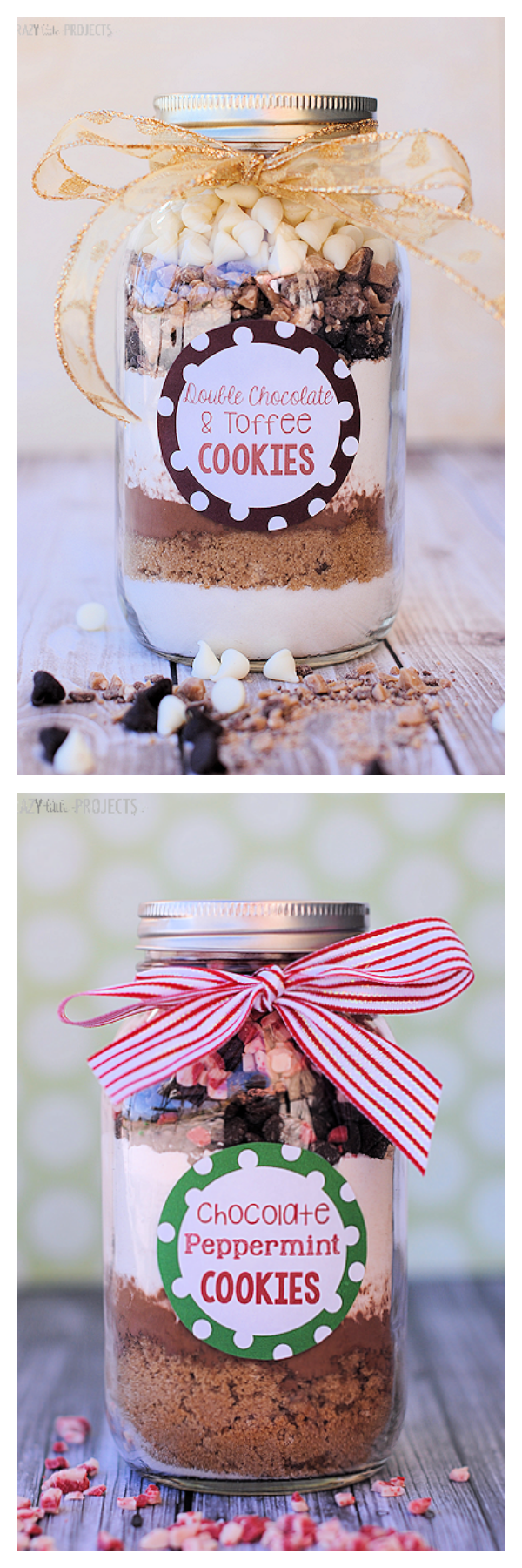 2 Cookies in a Jar Recipes-Great Gift Idea!