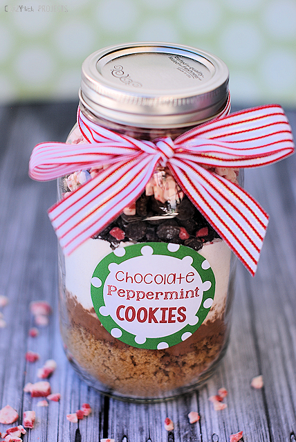 Mason Jar Christmas Gifts-Cookie Mix