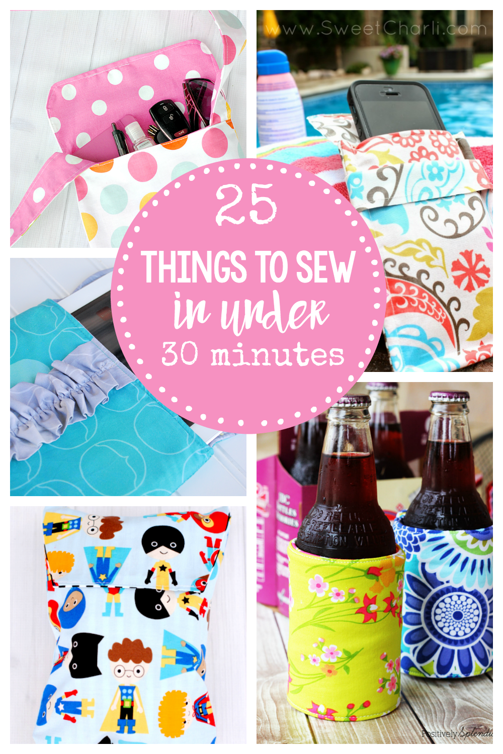 d48ea6302e8 Easy Sewing Patterns-These 25 Quick Sewing Projects can be sewn in under 30  minutes