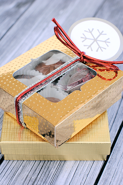 Gold Holiday Gift Box Template