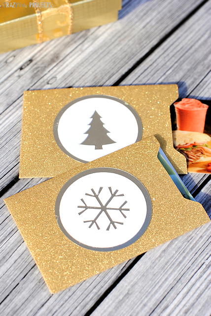 Gold Gift Card Holders-Perfect for Holiday Giving. Free Template.