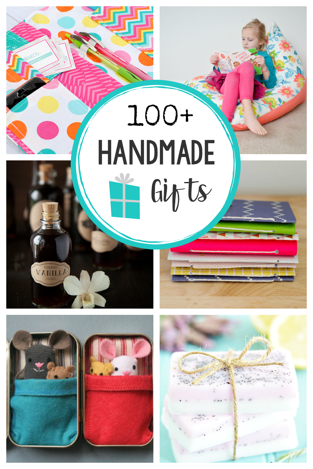 100+ Handmade Gifts to Make this Christmas or for Birthdays or Any Occasion! Handmade gift ideas for women, kids, neighbors, men and teens! #handmadegifts #giftideas #gifts #christmas